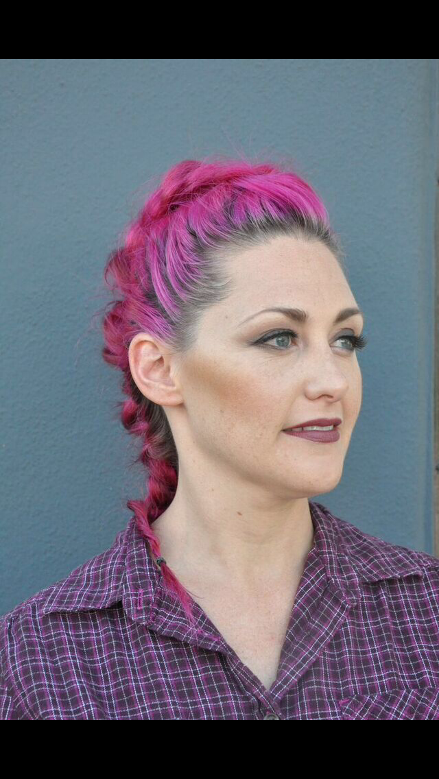 Braided Pink Updo