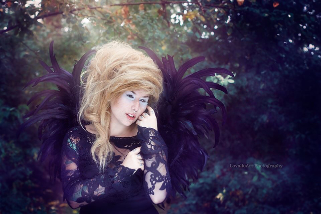 Dark Angel /hair by Lisa Lovallo, photo LovalloArt Photography/ MUA Omd4 makeup and effects