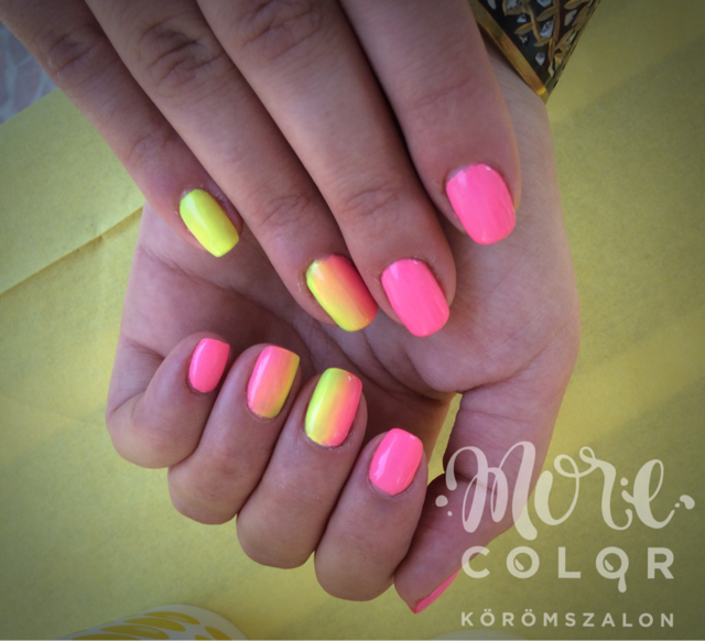 Yellow-piNk ombre