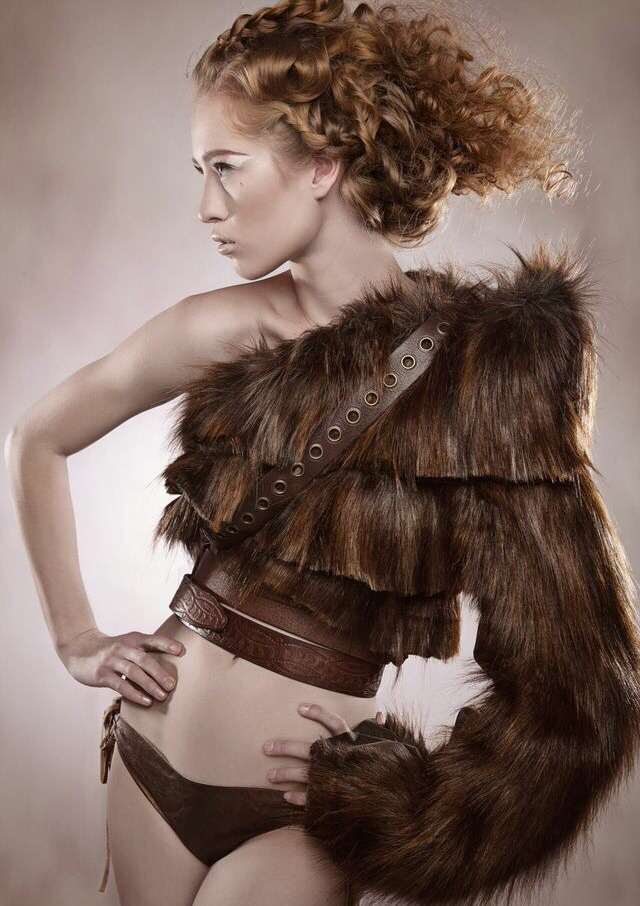 Faux Fur Hair By Amy Freudenberg Make-up Courtney Mortensen Model Hannah Mariah photographer and Wardrobe Keith Bryce