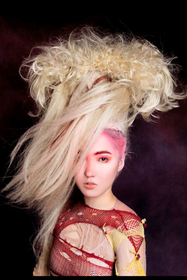 Jelly fish inspired hair art