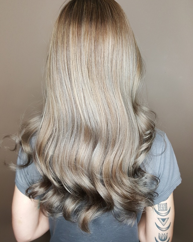 A mix of babylights and balayage