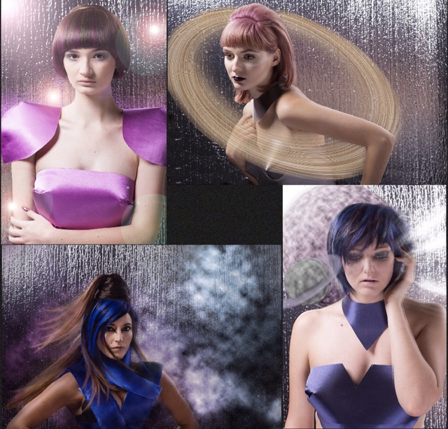 Panache All Stars Galaxy L.E.Sykes Photo Hair/MU- Juliana Koutouzakis, Kristina Dumenigo, Lucero Gleaton, Mandy Borna
