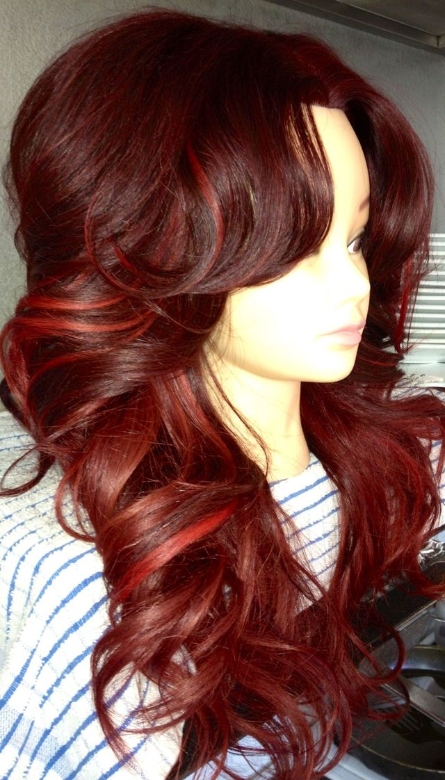 cherry red bombshell hair