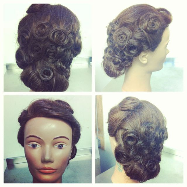 classic pin curl up do