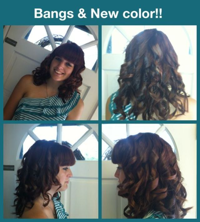 color and bangs