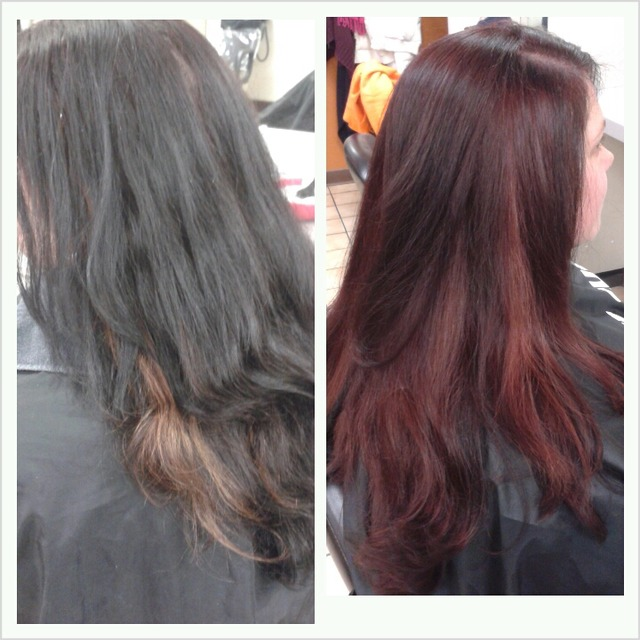 color correction, cut and style