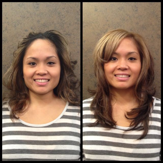 color x highlights x trim x blowout