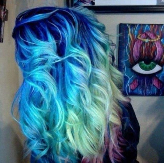 colored ombré