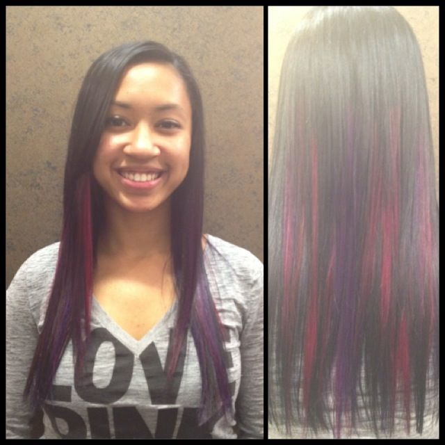 colorful ombré x flat iron