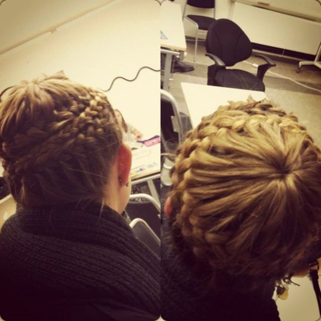 cool updo