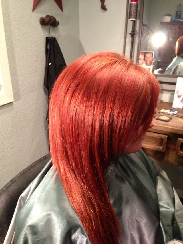 copper, red and vibrant
