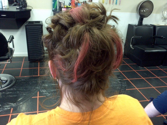 crazy easy updo