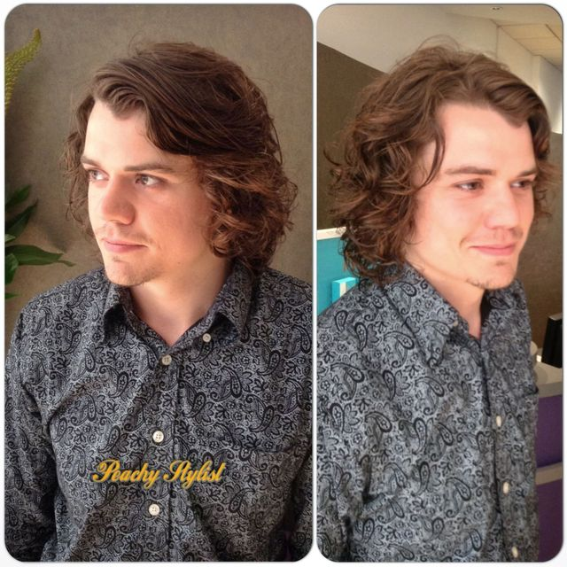 curly gents haircut