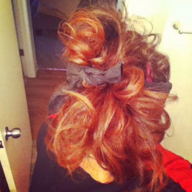 curly sloppy updo