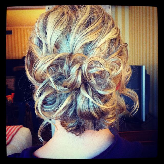 curly updo by Aimee Jadore