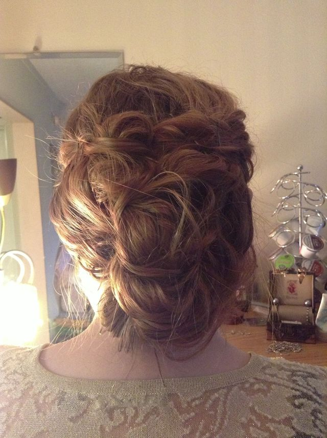 curly updo super easy
