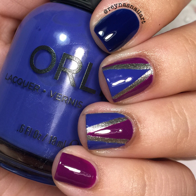 Blue + purple geometric