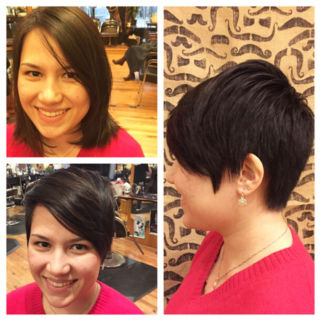 Long to short dramatic pixie