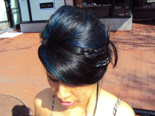 Updo by Linden Straus. Color by Irma Wheeler
