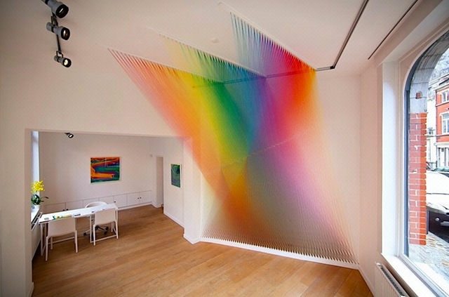 gabriel dawe Rainbow thread art