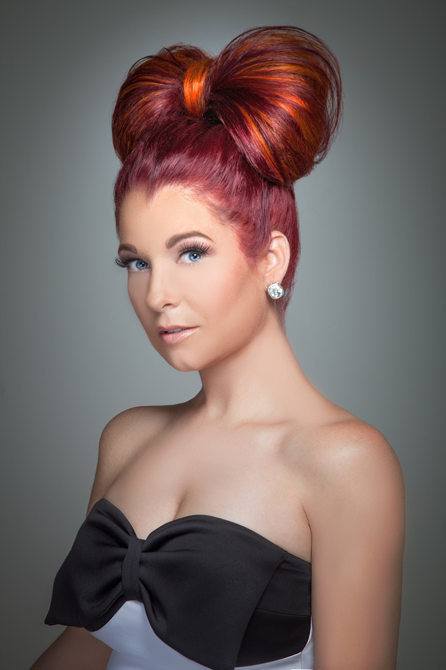 Red Bow....hair/makeup-DJ Victory...Photographer-Stephen Midgett
