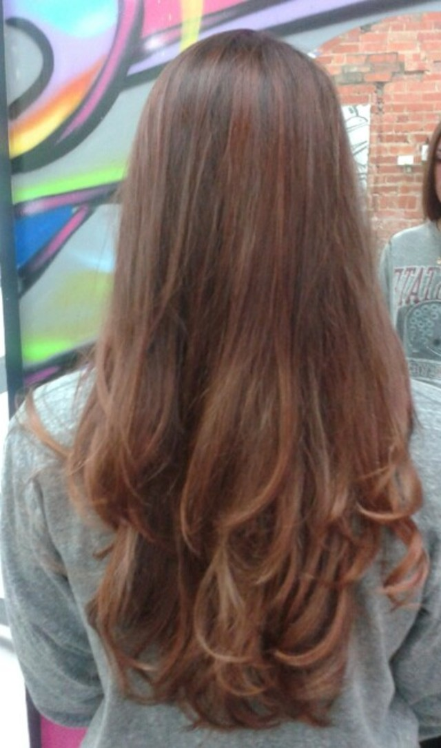 finished balyage by Jessica Starcher