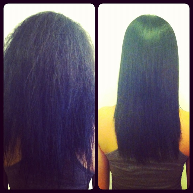 Keratin Smoothing Treatment(before/after) by jenniguccihair