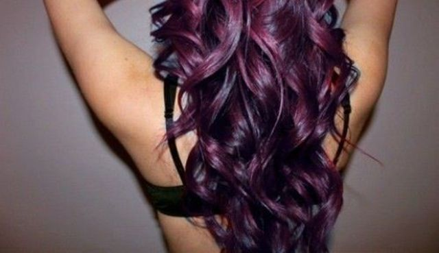 dark curly purple hair