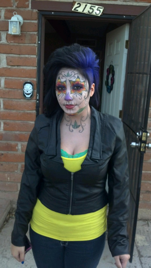 day of the dead. fun hair