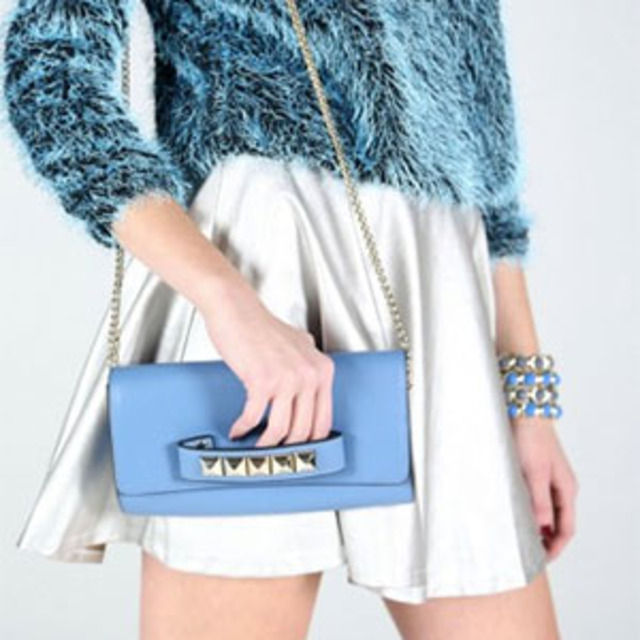 Savous Blue Daze Clutch Chain Bag