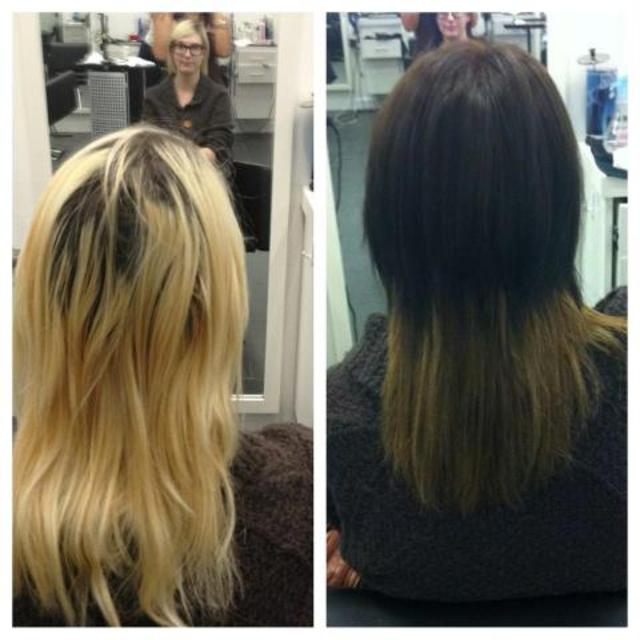 Before and After Ombre