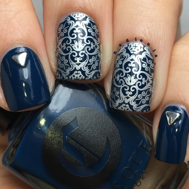 Silver and Navy