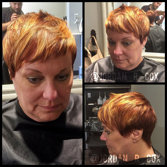 Shattered pixie Cut and color