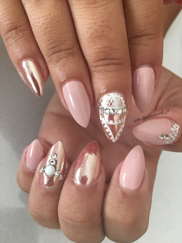 Nude and chrome