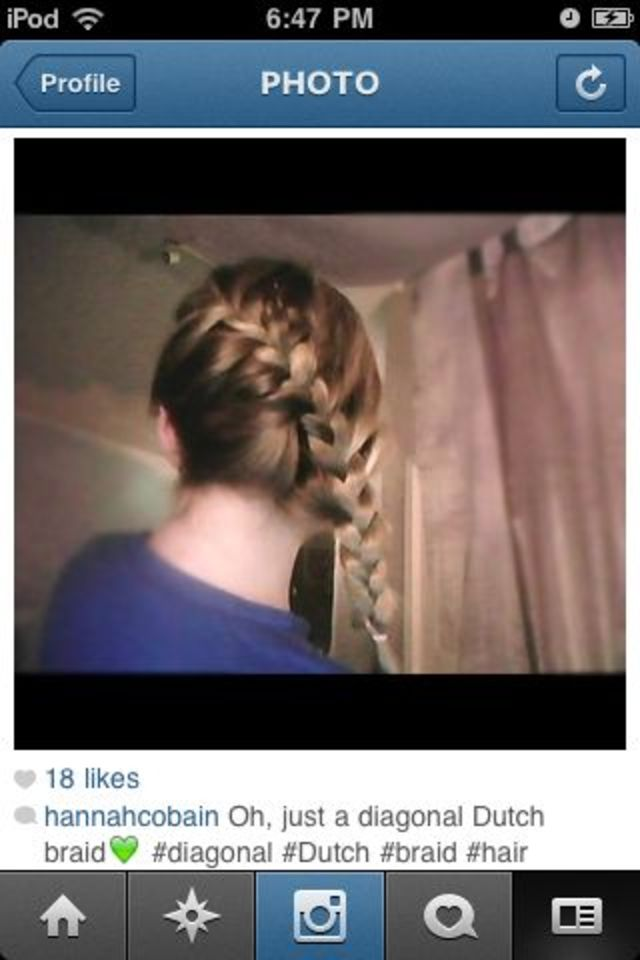 diagonal Dutch braid.