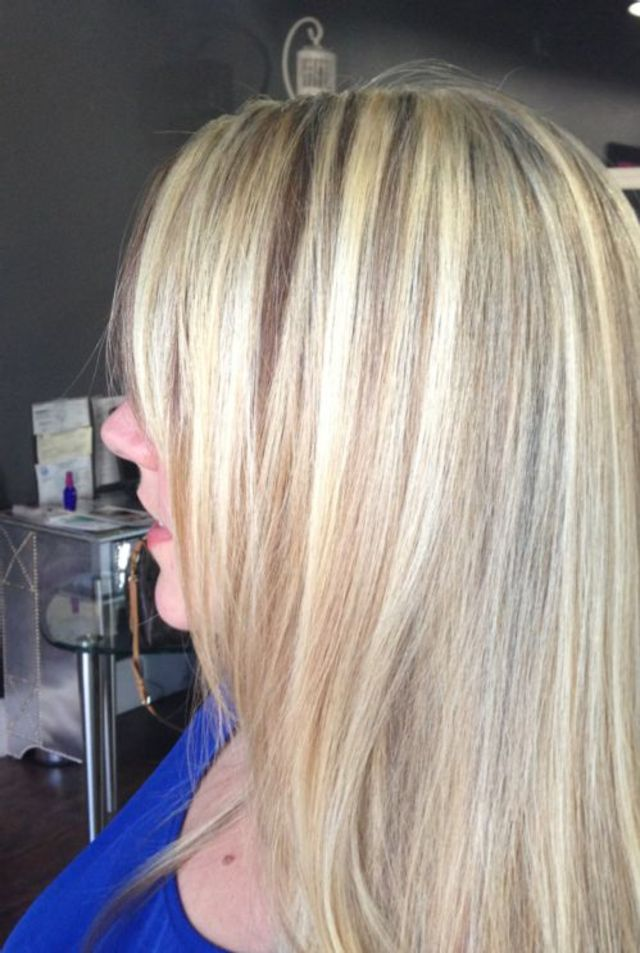 dimensional blonde // cut and color by Kendi