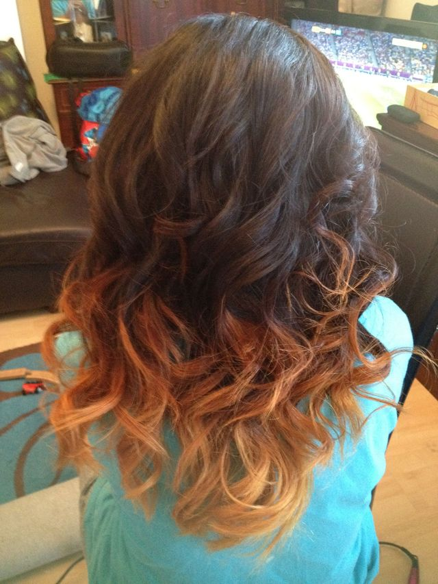 dip dye and curls