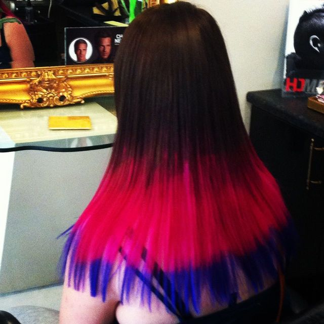 dip dye three tone