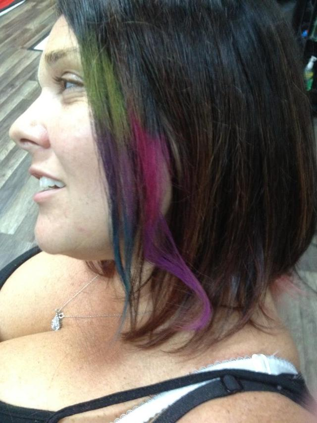 Tie Dye or Dip Dyed Hair Flairs Color Rub