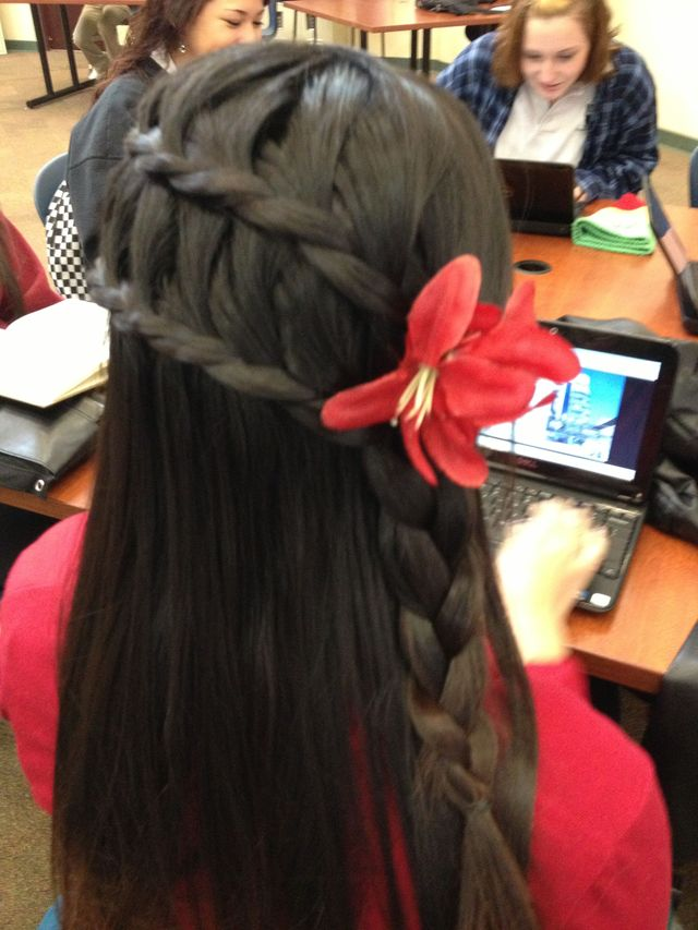 double over lap half braid