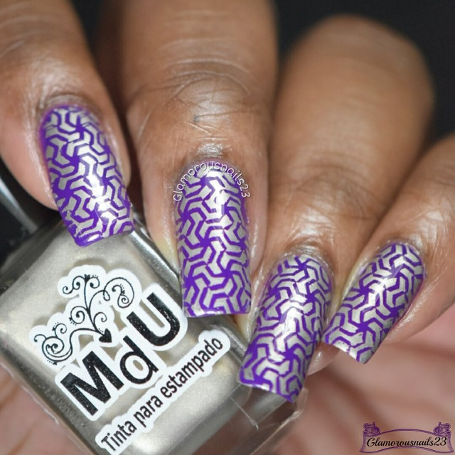 Purple & Light Gold Stamping