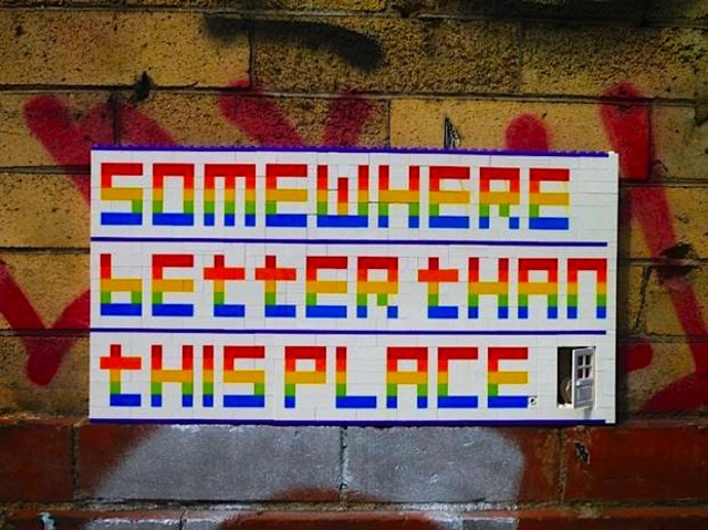 Rainbow Lego Messages