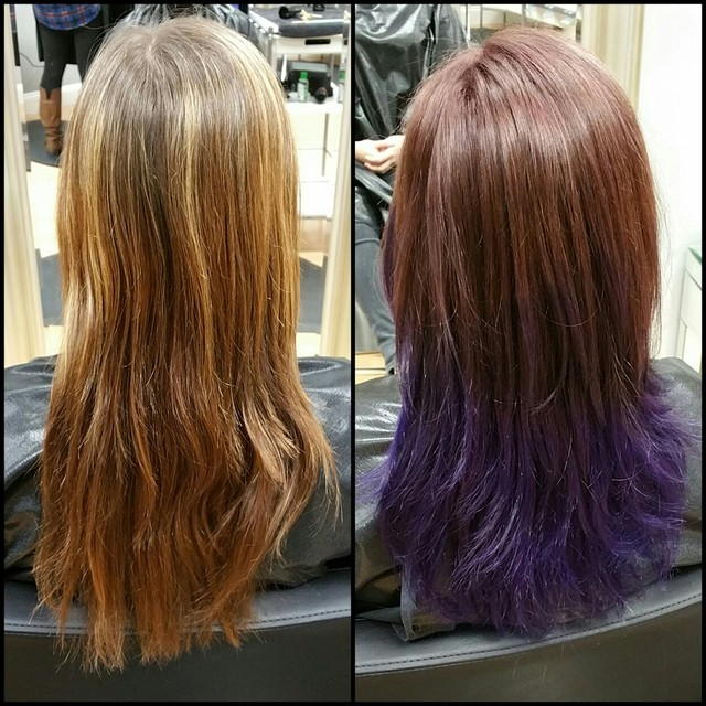 Purple ombrè done with J Beverly Hills color