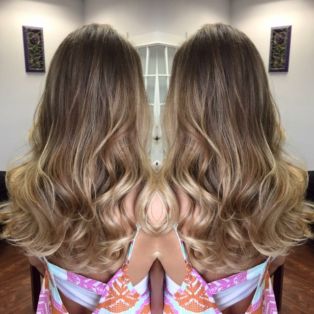 Balayage on virgin hair.