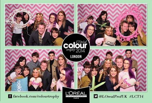 some of the staff at the L'Oreal Colour Trophy awards!
