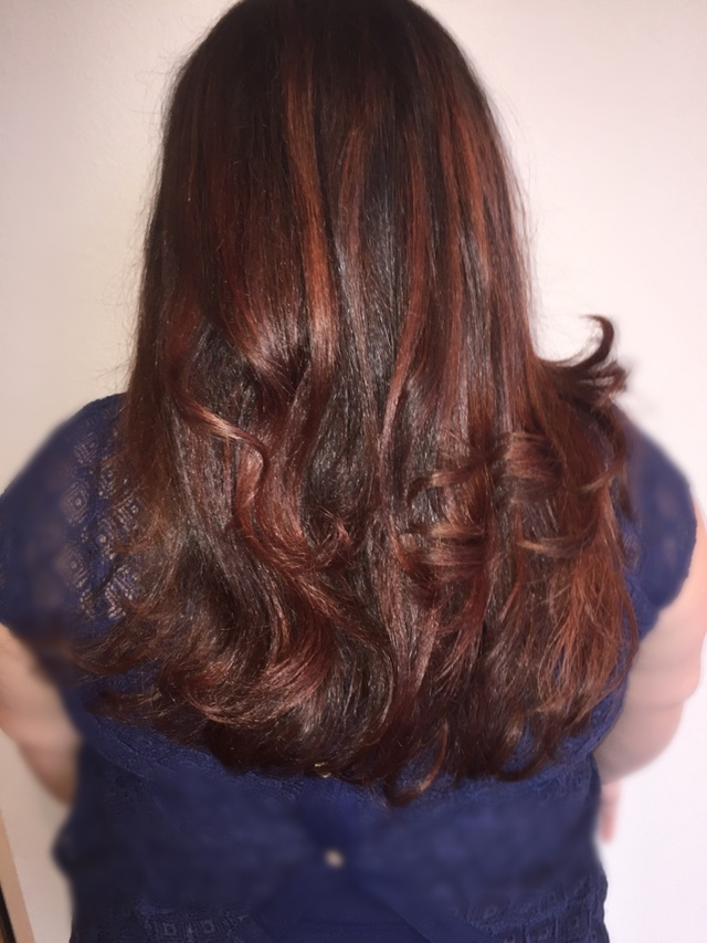 Dari copper brown ombré