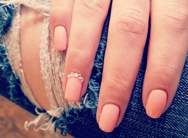 Cute country pink nails