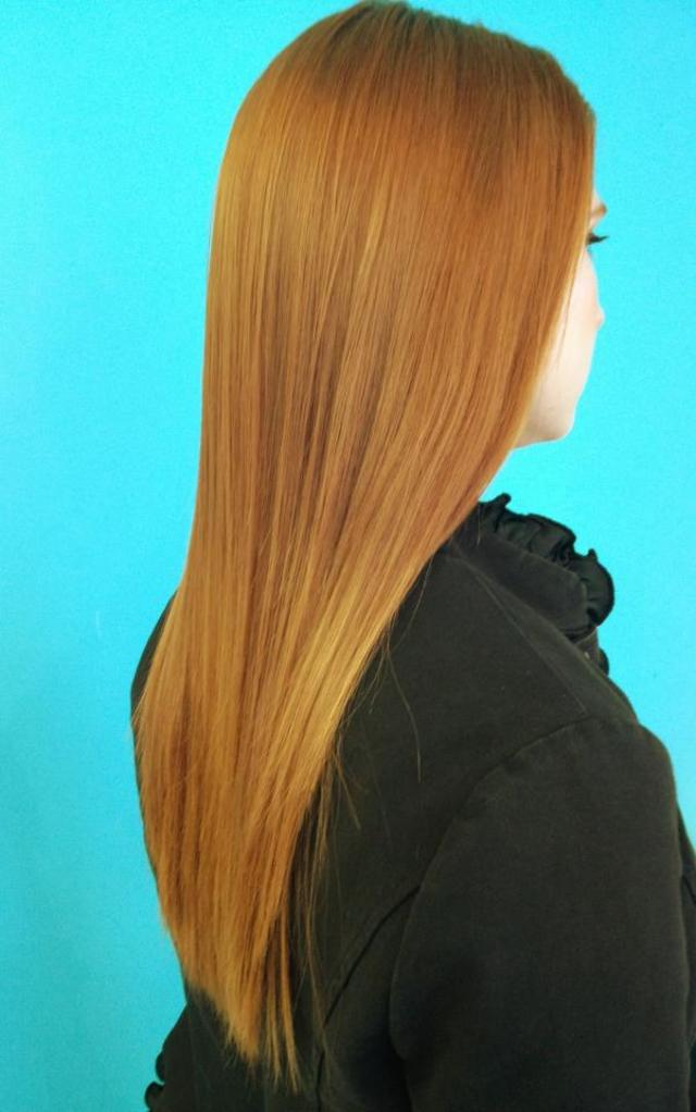 Kat's Pin Straight Blowout