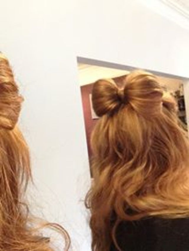 Loving the cute bow hair up by Natasha